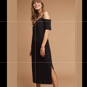 SALE Anthro Cloth & Stone Black Midi Dress XS